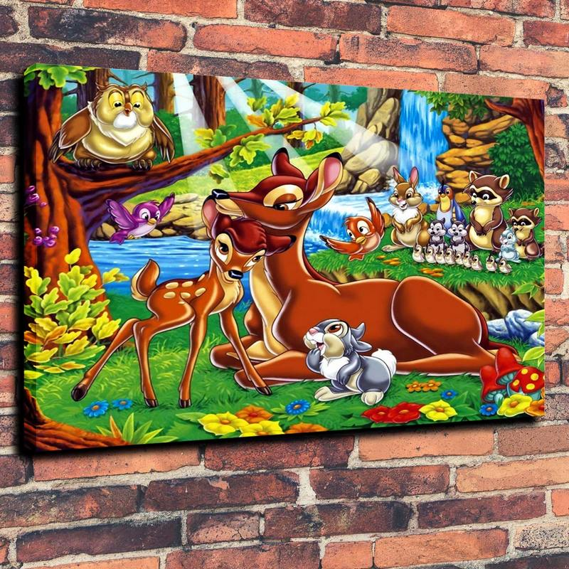 Cartoon Animal HD Desktop and Mobile Wallpaper Print Oil Painting on Canvas Wall Art Picture Home Decoration ( No Framed )(China (Mainland))