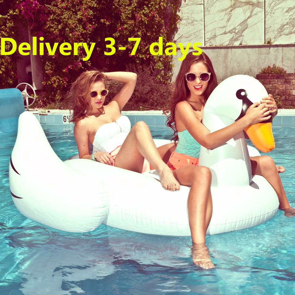 1.5m Inflatable Flamingo Float Swan Pool Floats life buoy for Adult Swimming Party Ring Adult Child Fun Water Toy Kickboard(China (Mainland))
