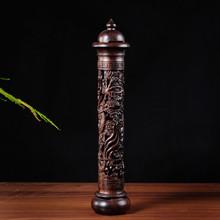 Ebony Wood Dragon Sculpture Stick Incense Burner Wood Pomades Joss Sticks Incense Holder Handmade Censer Aromatherapy Furnace(China (Mainland))