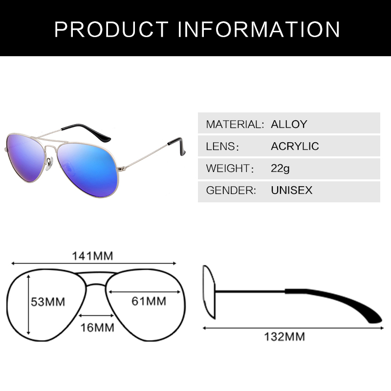 2015 New Aviator Sunglasses female Pilot glasses High Quality Points sun women men shades male Eyewear