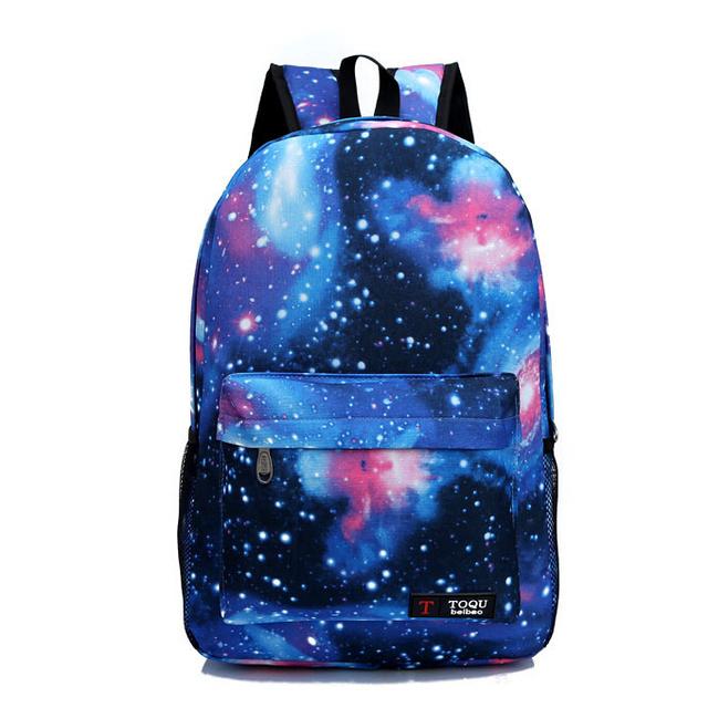 N365 женщины печать рюкзак Galaxy звезды Universe пространство школа книга кампус ...