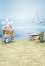 Free shipping 5*7 FT children photography backdrops backgrounds for photo photo studio props baby off the coast of the sea