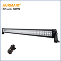 Auxmart CREE chips 52 300W LED Light Bar combo Beam offroad led bar pickup truck tractor