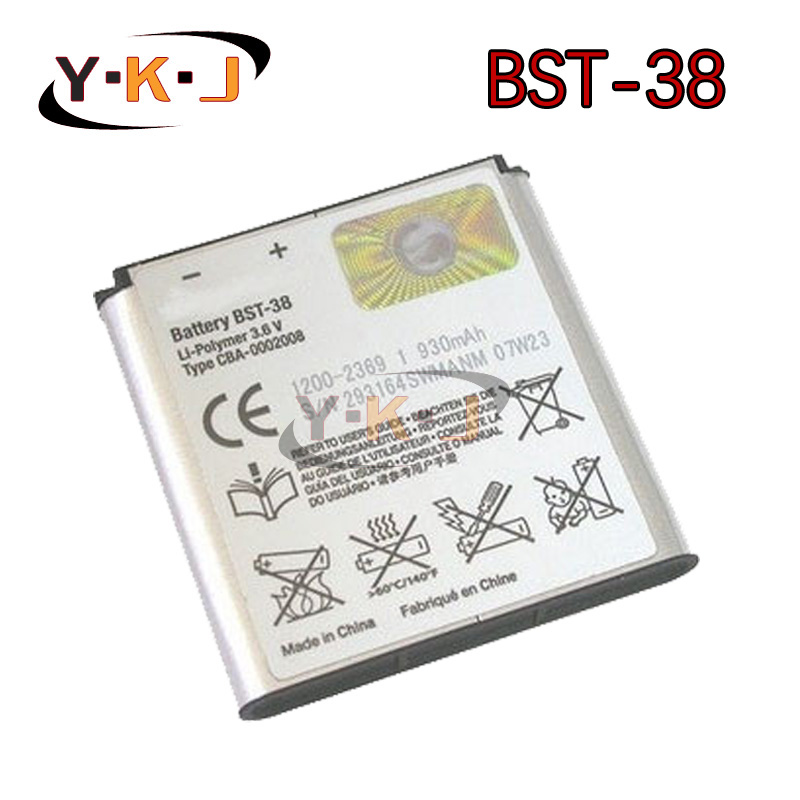 Original BST-38 BST 38 Phone Battery 930mAh replacement Batteries for Sony Ericsson W580 W580i w760 T650 X10 mini Pro(China (Mainland))