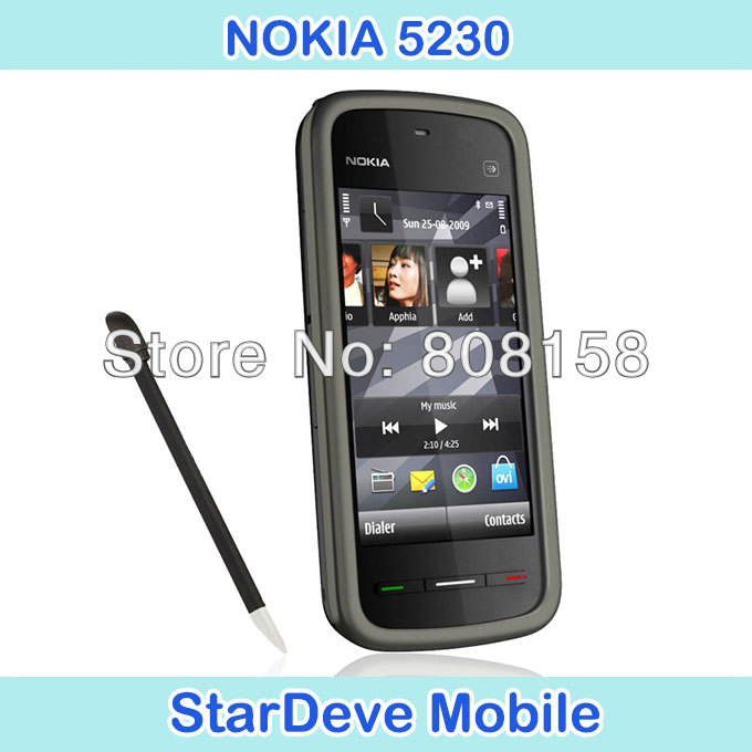 Big slae 3.2 inch Touch screen refurbished cell phone nokia 5230 original unlocked phone Free shipping(China (Mainland))