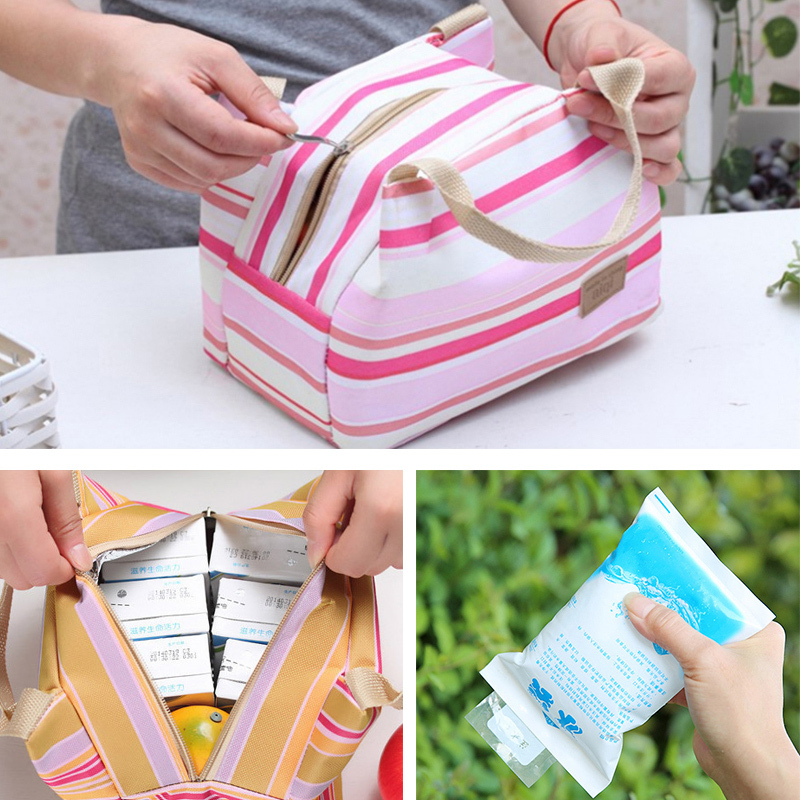 Portable Picnic Bag Insulated Cooler Ice Bag Lunch Box Camping Kit Hand Lunch Pouch thermal insulation lunchbag bolsa termica(China (Mainland))