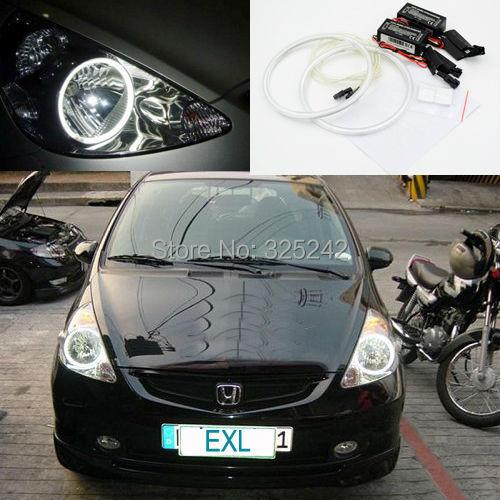 Honda FIT Jazz Excellent NEW Ultra bright headlight illumination CCFL Angel Eyes kit Halo Ring angel eyes