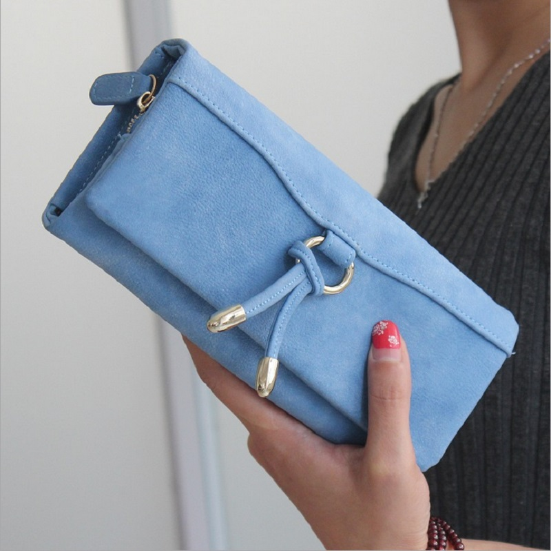 New Fashion European matte leather tassel pendant metal clamshell large capacity long section clutch wallet women<br><br>Aliexpress