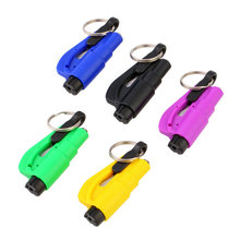 3 in 1 Emergency Mini Safety Hammer Auto Car Window Glass Breaker Seat Belt Cutter Rescue Hammer Car Life-saving Escape Tool 1PC(China (Mainland))
