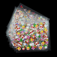 1 Set 3D Nail Stickers Design Beauty Nail Sticker Christmas Snow Snowflake Santa Trees Styling Tools Mix Decals