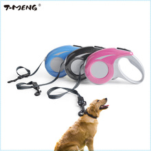 Buy 5M Automatic Retractable Dog Leash Extending Puppy Dogs Walking Leads Durable Nylon Lead One-handed Lock Training Pet Product for $12.93 in AliExpress store