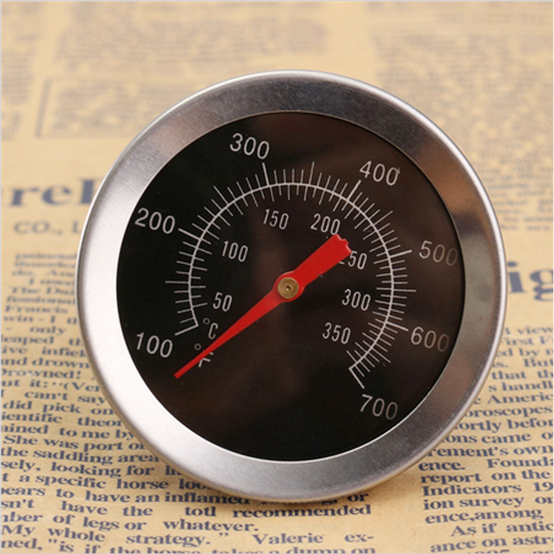 Free Shipping 1pc Barbecue BBQ Grill Outdoor Camp Smoker Pit Cooking Thermometer Thermo Meter(China (Mainland))