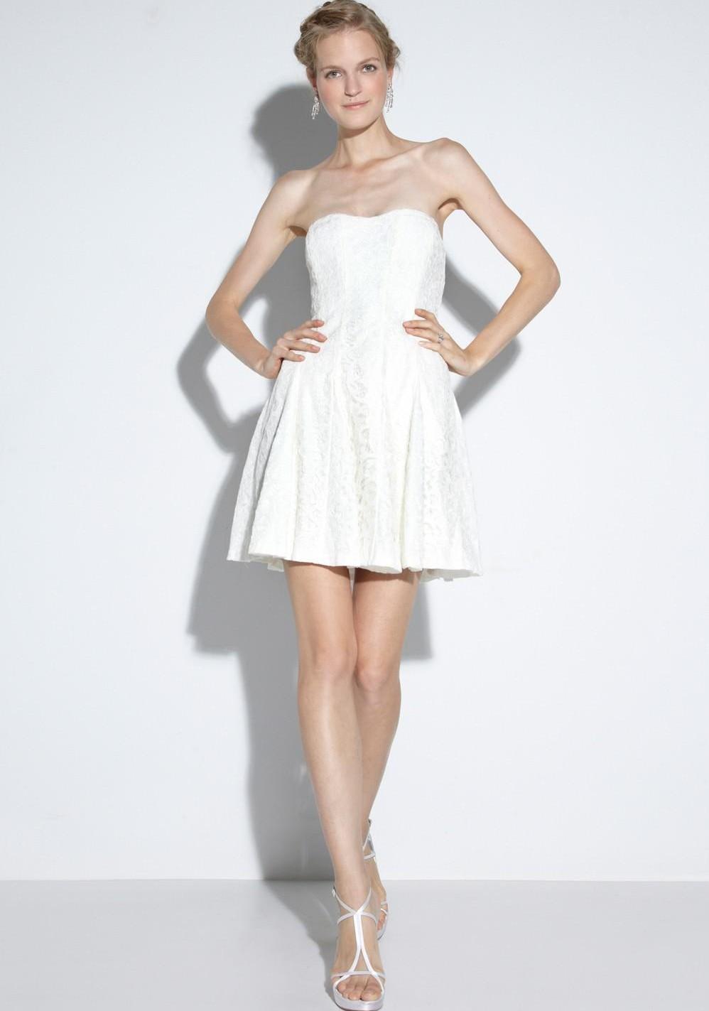 short beach wedding dresses mini backless wedding dress vestidos de novia strapless bridal casual gowns cheap custom made
