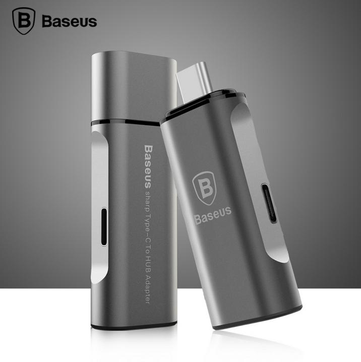 BASEUS Brand Type C to HUB USB 3.0 Type-C Adapter For Retina Macbook /Lenovo ZUK Z1/Pixel C/Nokia N1(China (Mainland))