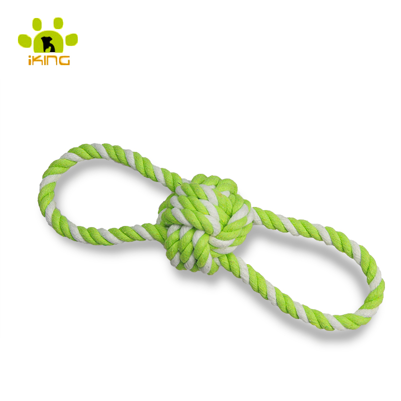 25cm New Fashion Puppy Dog Pet Toy Cotton Braided ball Rope Corn Stick Chew Knot Cotton Rope Pet Supplies Dog Gift Toys(China (Mainland))