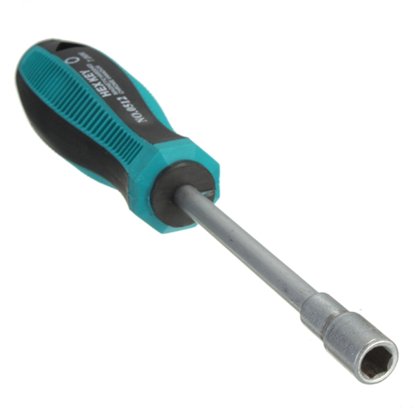 New plastic Rubber Handle 7mm CRV Socket Wrench Hex Nut Key Screw Drive Arbor hardening Antislip Metal Key Hand Screwdriver
