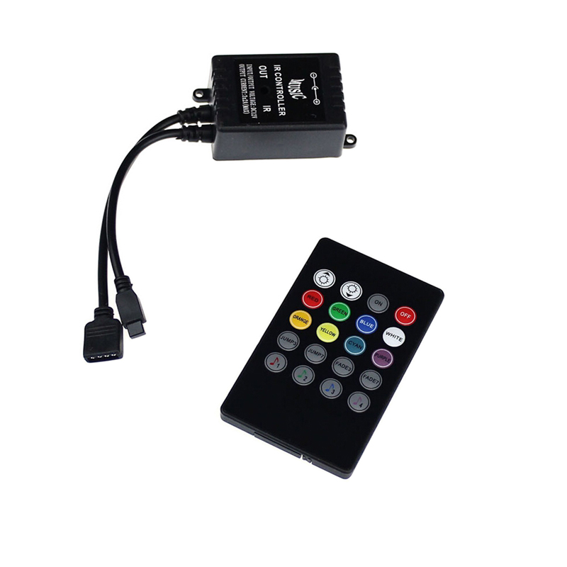 1pcs LED Music IR Controller 12V 20 Keys IR Remote Controllers for 3528 5050 RGB LED Strip Lights Mini Controller hot selling(China (Mainland))