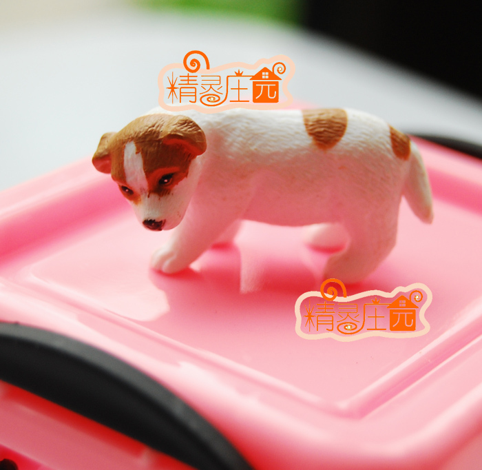 [1/12 Dollhouse DOLLHOUSE mini furniture models] cute dog adorable miniature pet accessories for the election can free shipping(China (Mainland))