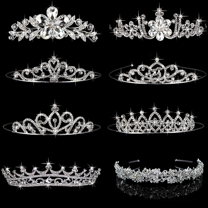 8 Styles Elegant Wedding Bridal Tiara Rhinestone Crystal Crown Pageant Prom Hair HeadbandFreeshipping(China (Mainland))