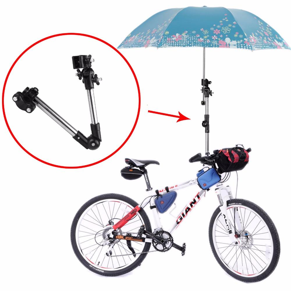 180 Degree Rotational Adjustable Umbrella Stands Wheelchair Bicycle Pram Swivel Umbrella Connector Stroller Holder(China (Mainland))