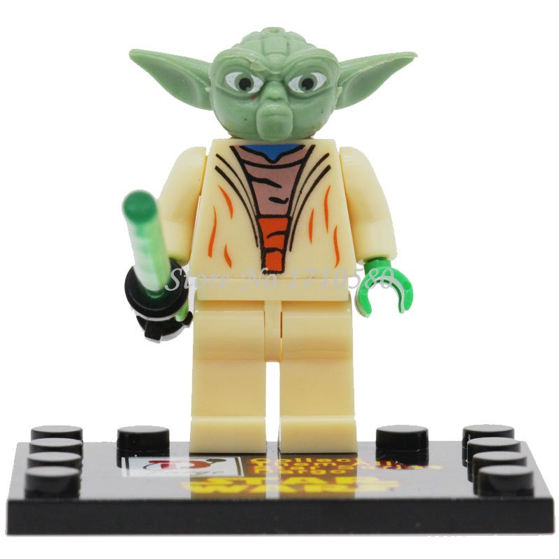 Star Wars Minifigures D849 6pcs/lot The Power Awakens Clone Trooper Yoda Constructing Blocks Units Mannequin Bricks Toys