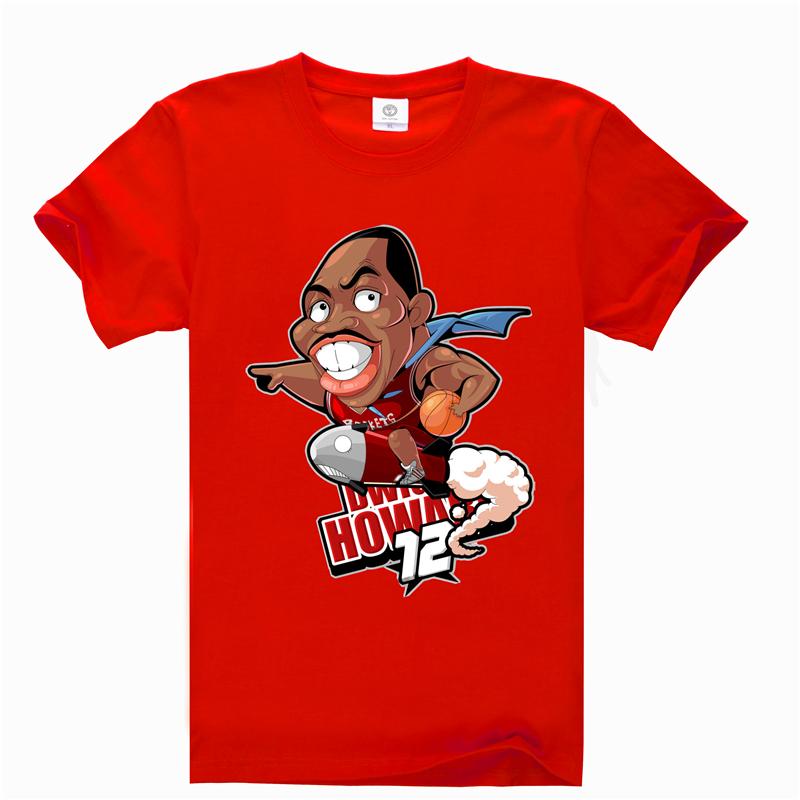 2016 design brand Dwight Howard Basketball Summer Men's Cotton Short Sleeve T-shirt Fashion Casual Tee shirt 3D digital AW1259(China (Mainland))