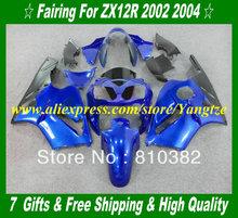 Buy 2002 KAWASAKI Ninja ZX12R 02 05 Fairings ZX 12R 2002 2005 ZX-12R 12R 02 03 04 05 Fashion blue abs bofy kit KH18 for $356.25 in AliExpress store