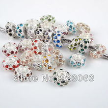 Buy Wholesale 100pcs/lot Mixed Colors Rhinestone Rondelle Metal Spacers Big Hole Charm Beads European Bracelet 6x11mm 010002 for $15.19 in AliExpress store