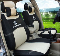 Customized 5 Seats Universal Seat Cover For All SUZUKI Car+Airbag Compatible+Breathable Material+ Two Pillows+Logo+Free Shipping