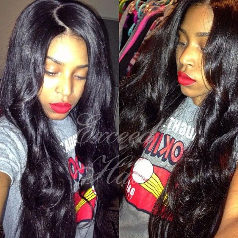 6A Grade peruvian human virgin Hair 100% Unprocessed Natural Color Human Hair Wigs full lace human hair wigs for black women<br><br>Aliexpress