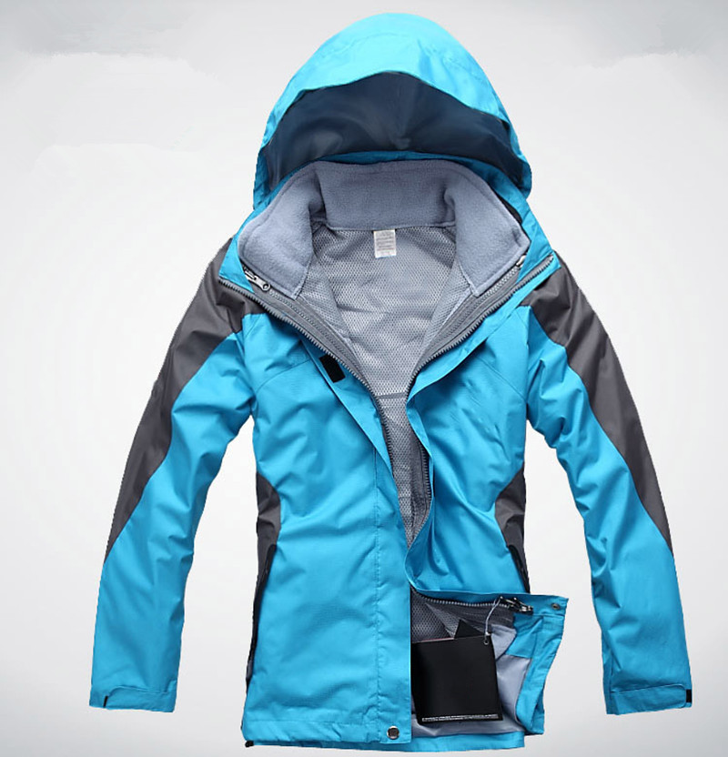 Outdoor Two Pieces Jackets Waterproof Windproof Camping Hiking 3 In 1 Windbreaker Warm Ski rock Climbing Women Hunting Clothes(China (Mainland))