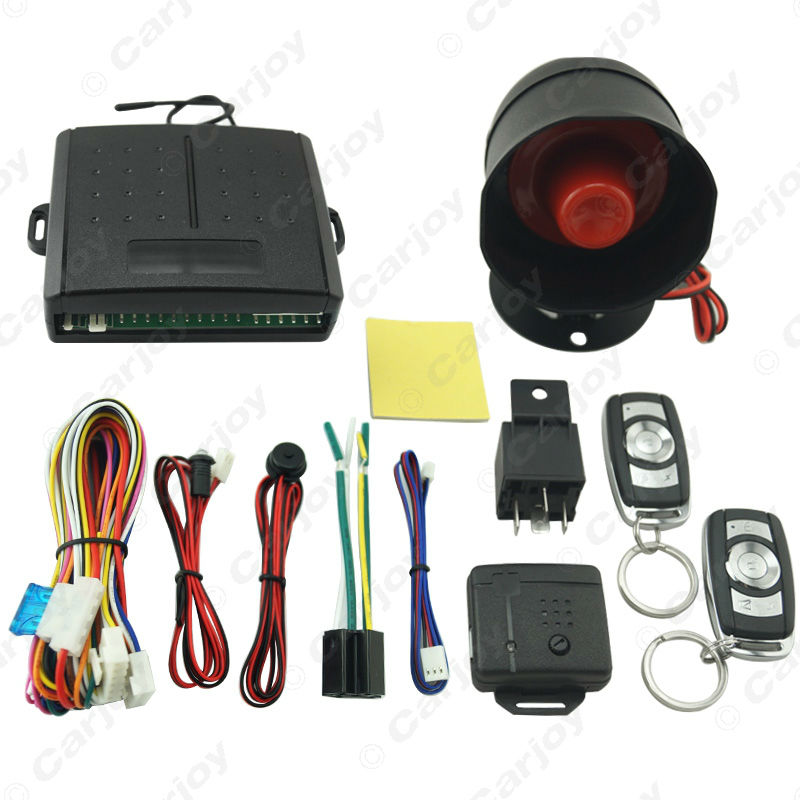 Car Alarm Security System Manual Reset Button Function Burglar Alarm Protection with 2 Remote Control #CA2224(China (Mainland))