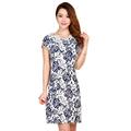 Print Dress Women 2016 Short Sleeve O Neck Plus Size Women Clothing Knee Length Office Dresses