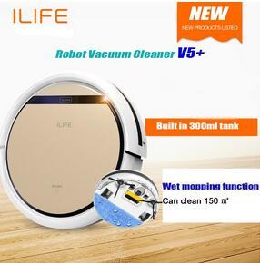 Freeshipping Robot Vacuum Cleaner ilife V5 V5PRO v5s Wet and Dry Clean MOP Water Tank HEPA Filter,Ciff Sensor,ROBOT ASPIRADOR(China (Mainland))