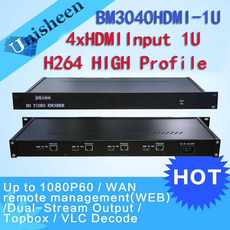 MPEG-4 AVC/H.264 4in1 HDMI Video Encoder HDMI Transmitter live Broadcast encoder H264 encoder(China (Mainland))