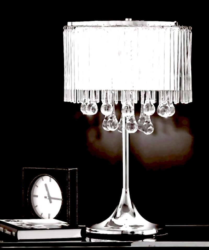 Best selling 9k crystal modern brief luxury table lamp for K living table lamp