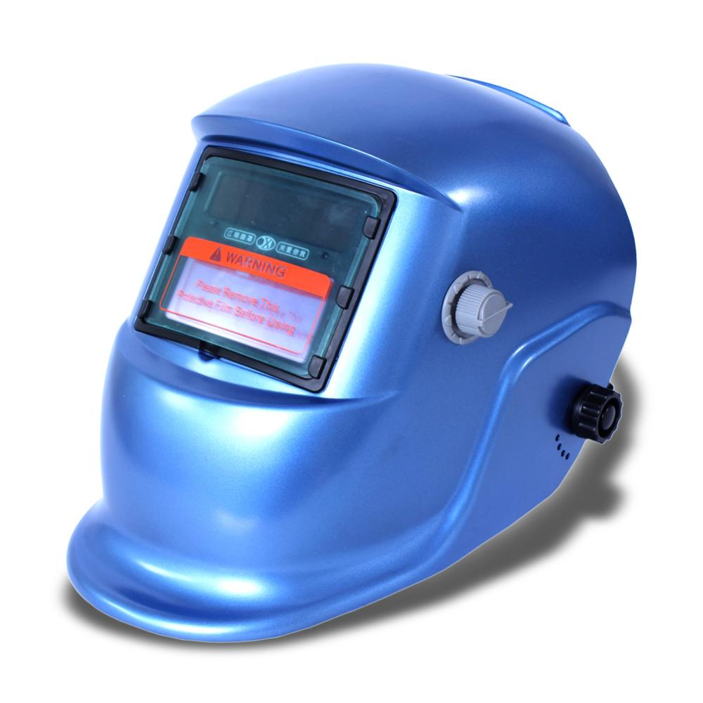 2015 Auto Darkening Solar welders Welding Helmet Mask with Grinding Function blue #8(China (Mainland))