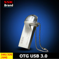 DM PD009 OTG USB 3.0 100% 32GB USB Flash Drive OTG Smartphone Pen Drive Micro USB Portable Storage Memory Metal USB Stick