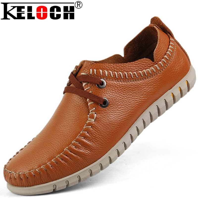 Big Size 37-47 100% High Quality Genuine Leather Men Shoes Casual Leather Oxford Shoes For Men Leather Shoes Moccasin