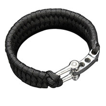 ParaCord Rope Outdoor Camping Survival Bracelet Weave 7-Stand Alloy Buckle (China (Mainland))