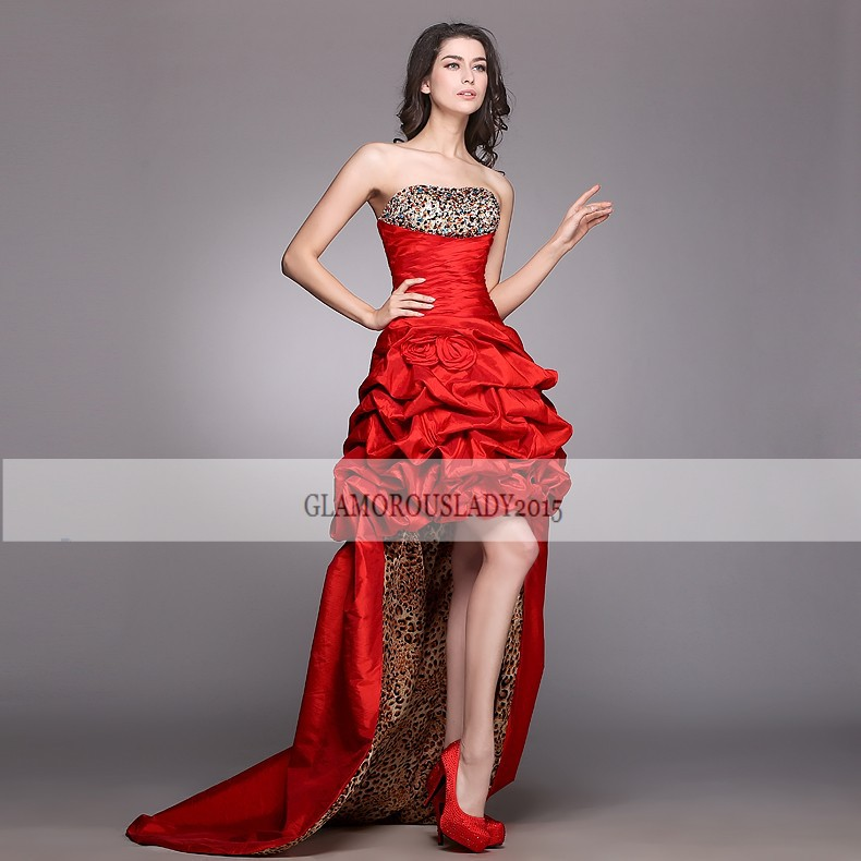 popular red leopard prom dress buy cheap red leopard prom