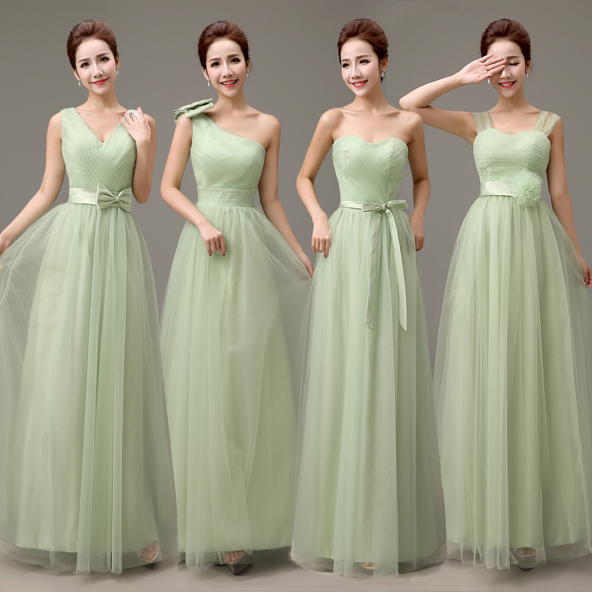 Dusty Green Bridesmaid Dress Tulle Sage Bridesmaid Dress