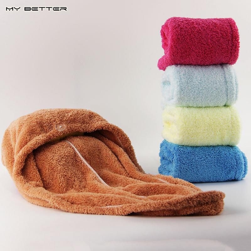 1pcs Bathroom Hair Towel Womens Girls Magic Hair Drying Hat Cap Salon Towels Quick Dry Bath Microfiber Fabric(China (Mainland))