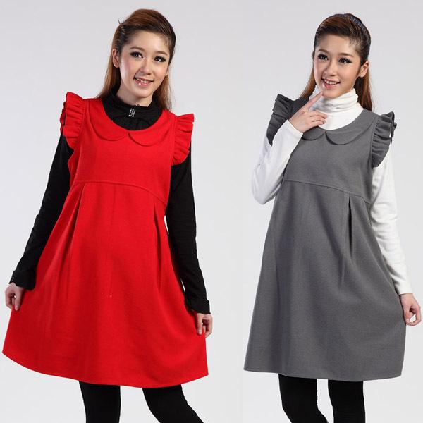 Осеннее платье для беременных 1