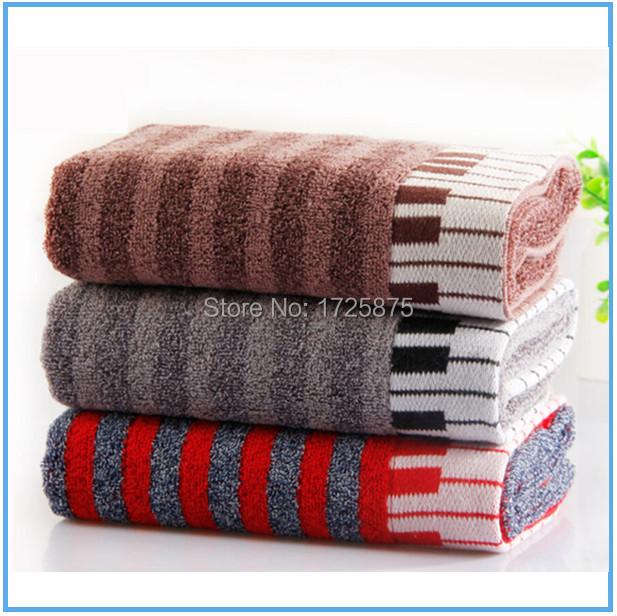 2 PCS / Lot,The piano design towel, Size 34x73CM, Cotton towel, Face towel, 2 Colors, ManufacturerGVBT7727(China (Mainland))