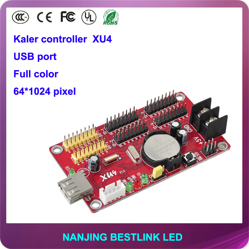 kaler led controller card xu4 for p10 outdoor led sign board rgb led graphics card 64*1024 pixel usb port with p10 led module(China (Mainland))