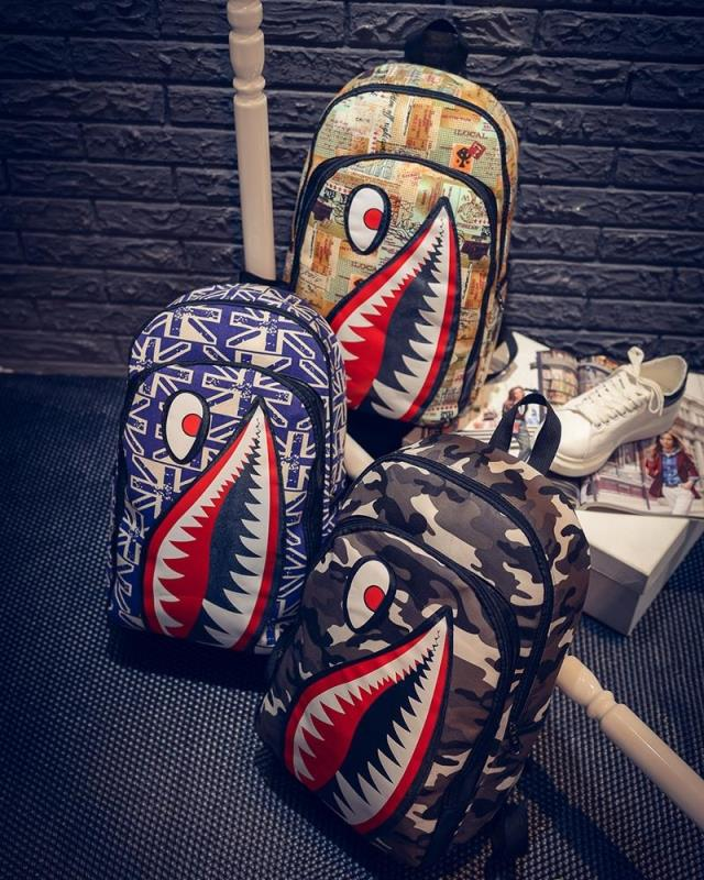 Korean style casual canvas backpack school bag travel shoulder bags large capacity laptop camo backpacks wholesale free shipping(China (Mainland))