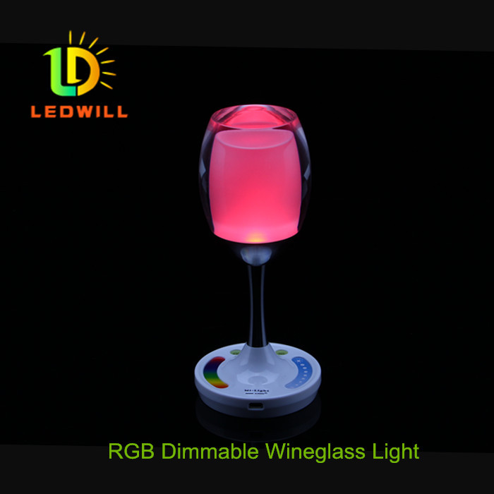 RGB Dimmable wineglass light Win light Night lights Atmosphere lamp Dimmable LED light(China (Mainland))