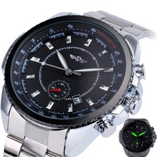 Winner Men's Automatic Mechanical Watch Stainless Steel Strap Date Calendar Sub-dial Supersize NEW FASHION SPORTS DESIGN