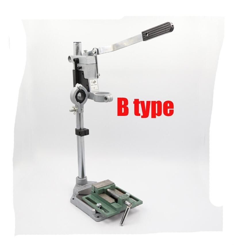 B type Mini electric Rotating fixed frame Electric drill bracket Milling machine Bench drill(China (Mainland))